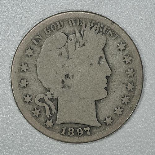 1897-S G-VG Barber Half Dollar, nice rare key date for your set