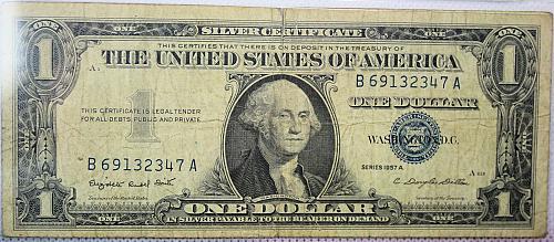 1957 A 1$ Silver Certificate