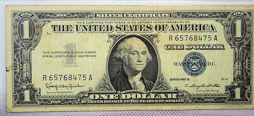 1957 B 1$ Silver Certificate
