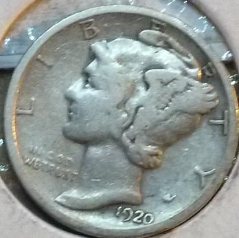 1920-D Very Good Mercury Dime   ( 241)