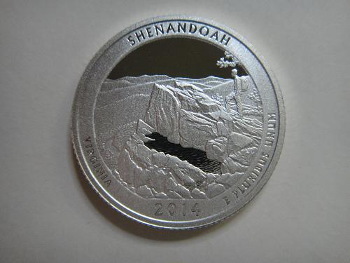 2014-S Virginia-Shenandoah SILVER Proof-66 (GEM+) National Parks Quarter