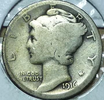1916-P Good Mercury Dime   ( 216)