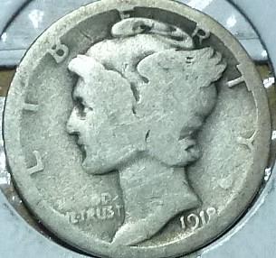 1918-S Good Mercury Dime   ( 211)