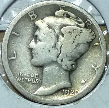 1920-S Very Good Mercury Dime   ( 205)