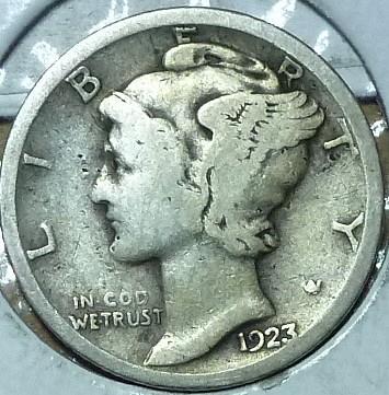 1923-S Very Good Mercury Dime   ( 207)