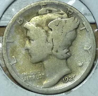 1926-D Very Good Mercury Dime   ( 209)
