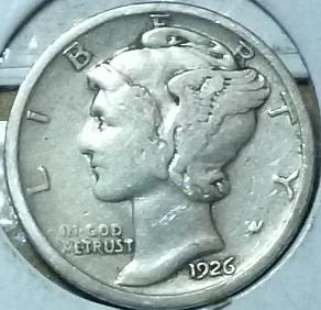1926-P Fine Mercury Dime   ( 722)