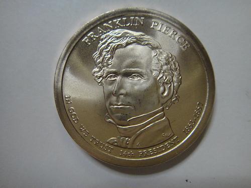 2010-P Pierce Position A Presidential Dollar MS-65 (GEM)