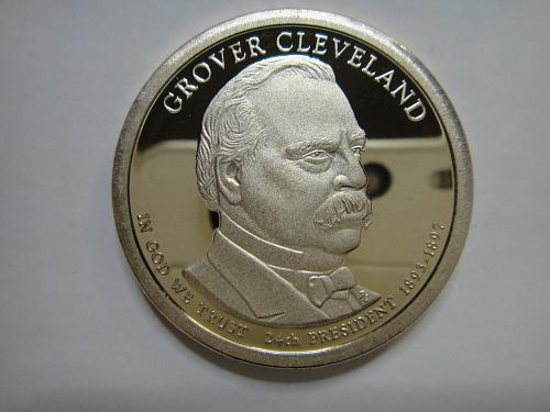 2012-S Grover Cleveland 2nd Term Presidential Dollar Proof-65 (GEM)