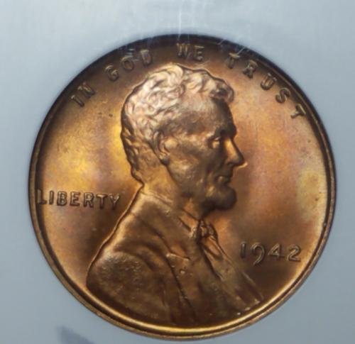 1942 P Lincoln Wheat Cent MS66RD!