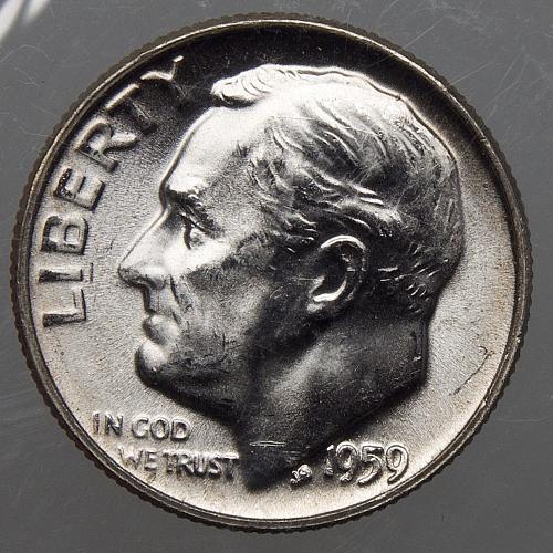 1959 P Roosevelt Dime #7