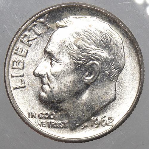 1962 P Roosevelt Dime #4