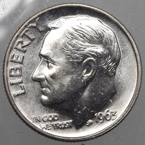1963 P Roosevelt Dime#5
