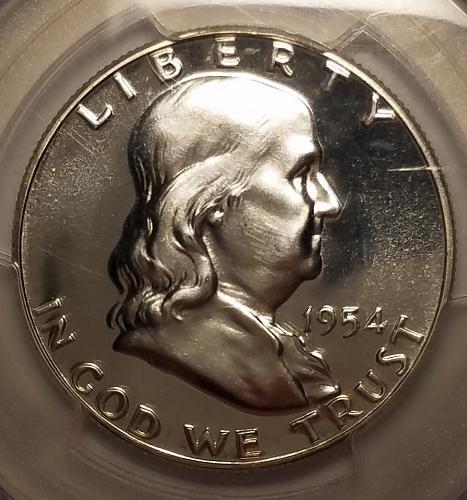 1954 P Franklin Half Dollar Proof PR67!!!
