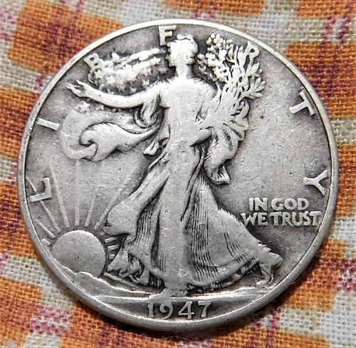 1947 P WALKING LIBERTY HALF DOLLAR #3