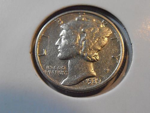 1939 P Mercury Silver Dime,  (39PAC3)