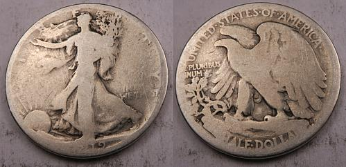 1919-S Walking Liberty Half Dollar - VG - 90% Silver