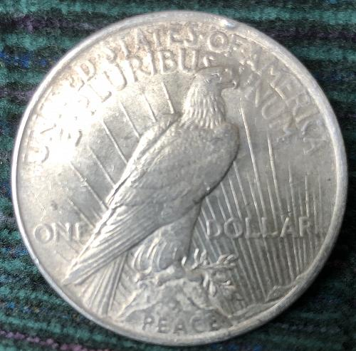 For sale a 1923 Philadelphia Peace silver Dollar