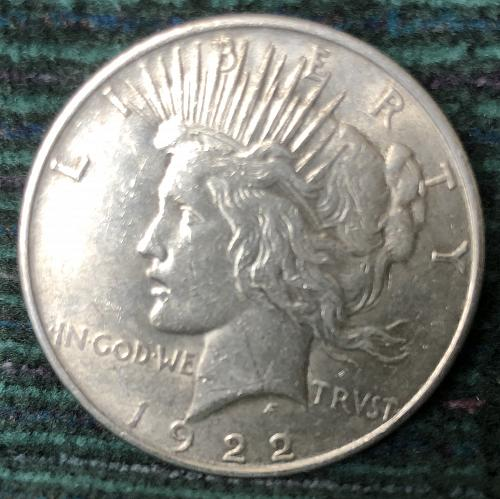 For sale a nice 1922 Philadelphia Peace silver Dollar