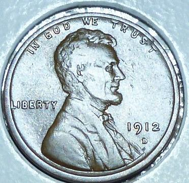 1912-D EXTRA FINE Lincoln Wheat Cent ( 107 )