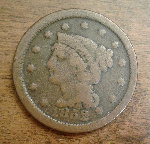 1852 Braided Hair Large cent