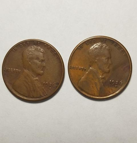 2 1926 S Lincoln Cents