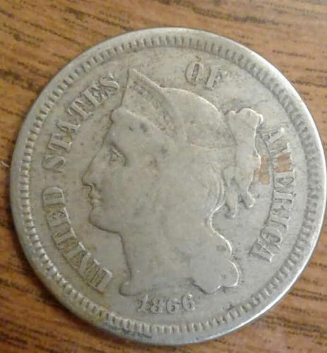 1866 Three Cent Piece - Consigned by a Reiki teacher