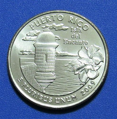 2009-P 25 Cents - Puerto Rico Territory Quarter - Uncirculated from Mint Roll