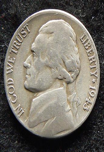 1943 S Jefferson Nickel (VG-8)