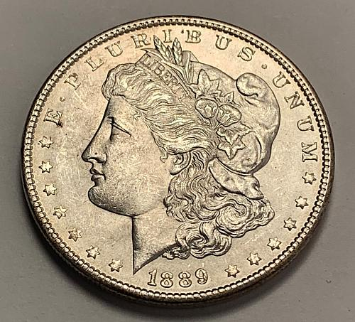 1889 Morgan Silver Dollar UNC [MDL 323]