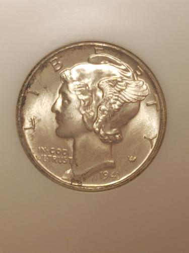 1941 D Mercury Dime NGC MS65FB