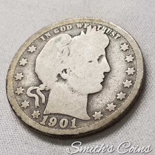 1901 O Barber Quarter - Good