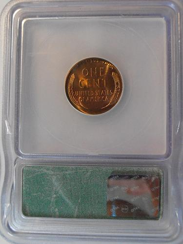 1945 P Lincoln Cent High Grade MS 66 red (45P604)