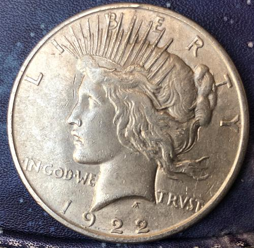 For sale a 1922 Philadelphia Peace silver Dollar m
