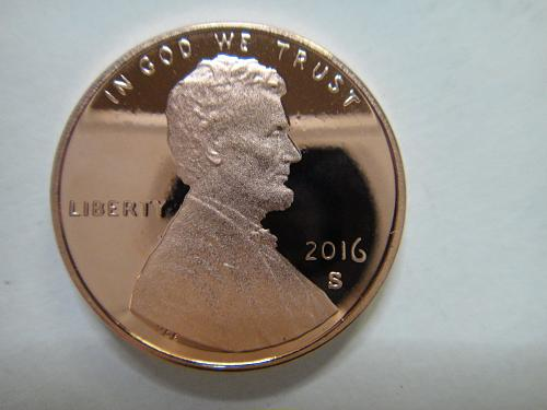 2016-S Lincoln Cent Proof-66+ (GEM+) RED