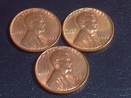 1953-55-57 Lincoln Wheat Cents