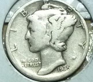 1935-D GOOD Mercury Dime   ( 736 )