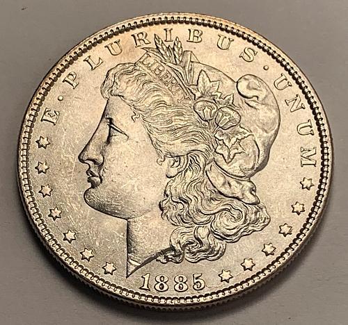 1885 Morgan Silver Dollar UNC [MDL 339]