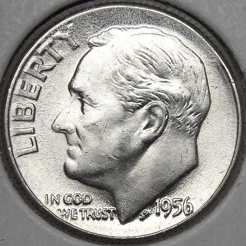 1956 P Roosevelt Dime #2