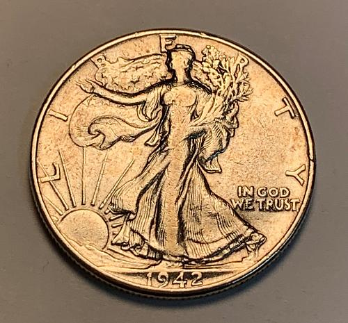 1942 Walking Liberty Half Dollar [WL 154]