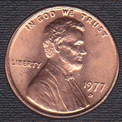 1977 D Lincoln Memorial Cent Small Cents