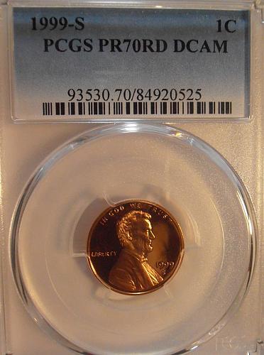 1999 S PR70RD DCAM Lincoln Cent, PCGS  (99S525)