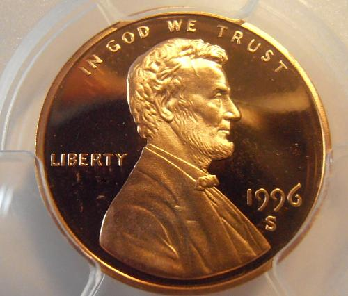 1996 S PR69RD DCAM Lincoln Cent, PCGS Certified (96S328)