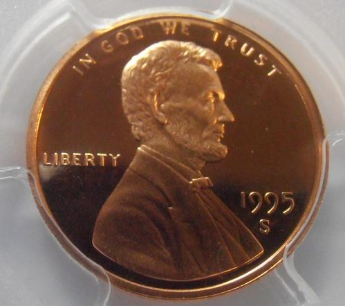1995 S PR69RD DCAM Lincoln Cent, PCGS Certified (95S431)