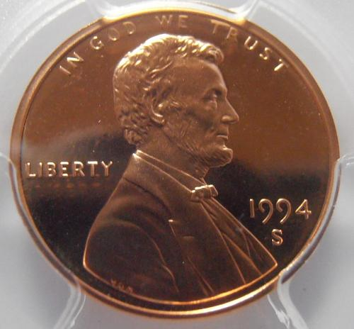 1994 S PR69RD DCAM Lincoln Cent, PCGS Certified (94S786)