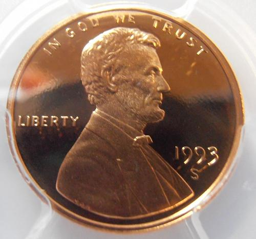 1993 S PR69RD DCAM Lincoln Cent, PCGS Certified (93S209)