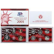 2001  S   SILVER  PROOF SET