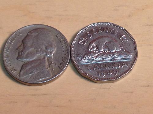1949 US & Canada Nickels