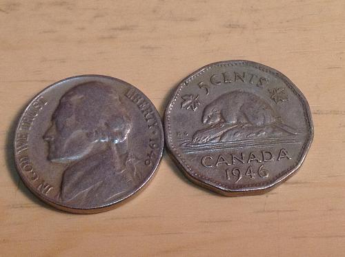 1946 US & Canada Nickels