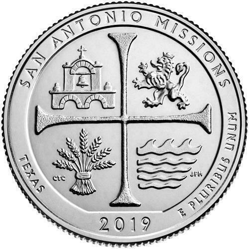 2019  P, D & S   SAN ANTONIO MISSIONS QUARTERS (3 COINS )